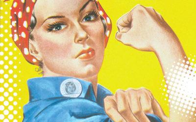 Rosie the Riveter on Quarantine Moments